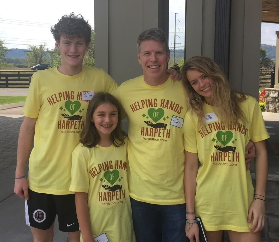 Attorney John Griffith with his family at Serve Day