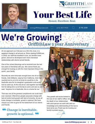 June 2018 Newsletter Cover - Your Best Life