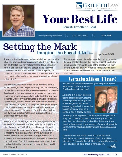 May 2018 Newsletter Cover - Your Best Life