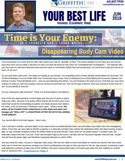 June 2019 Newsletter Cover - Your Best Life