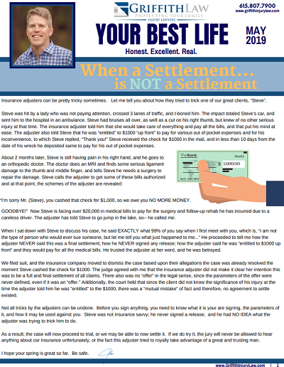 May 2019 Newsletter Cover - Your Best Life