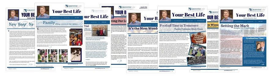Past GriffithLaw Newsletter Covers
