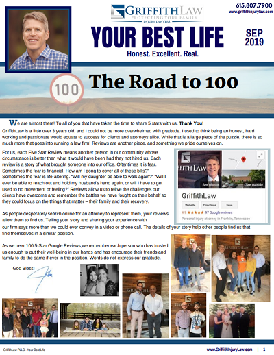 September 2019 Newsletter Cover - Your Best Life