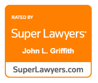Personal injury lawyer John Griffith's Super Lawyers Award Badge