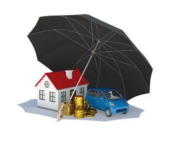 Umbrella covering house, car and other financial assets