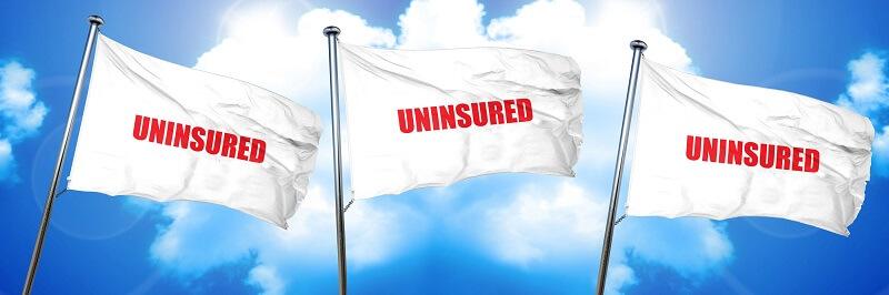 Uninsured driver warning flags