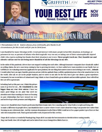 November 2020 Newsletter Cover - Your Best Life