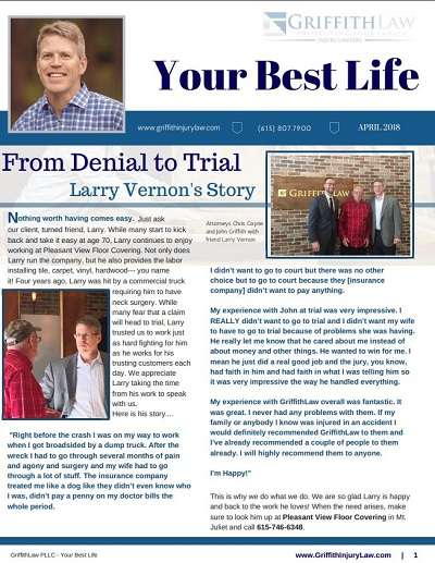 April 2018 Newsletter Cover - Your Best Life