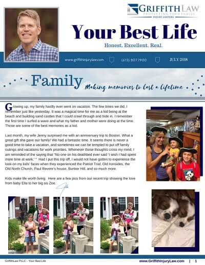 July 2018 Newsletter Cover - Your Best Life
