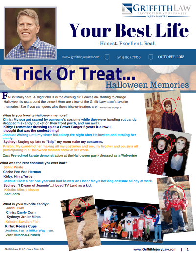 October 2018 Newsletter Cover - Your Best Life