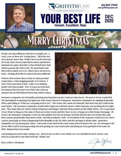 December 2020 Newsletter Cover - Your Best Life