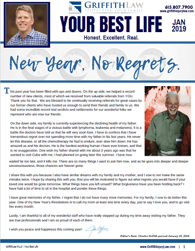 January 2019 Newsletter Cover - Your Best Life