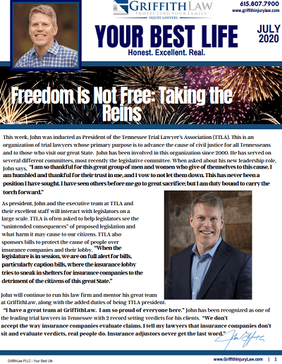 July 2020 Newsletter Cover - Your Best Life