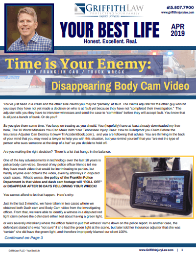April 2019 Newsletter Cover - Your Best Life