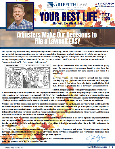 October 2020 Newsletter Cover - Your Best Life