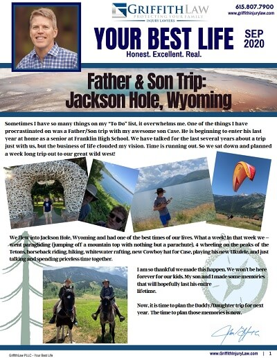 September 2020 Newsletter Cover - Your Best Life