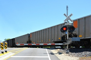vehicle crashes at railroad crossings