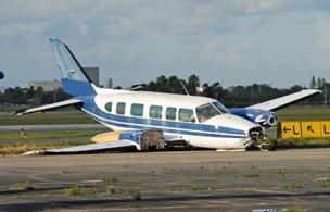 small airplane crash runway aviation disaster