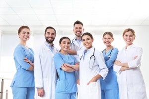 team of doctors male and female