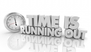 time is running out clock
