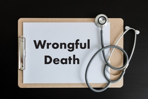 wrongful death clipboard and stethoscope