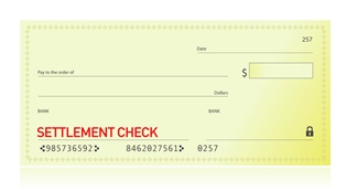 Your car accident settlement check