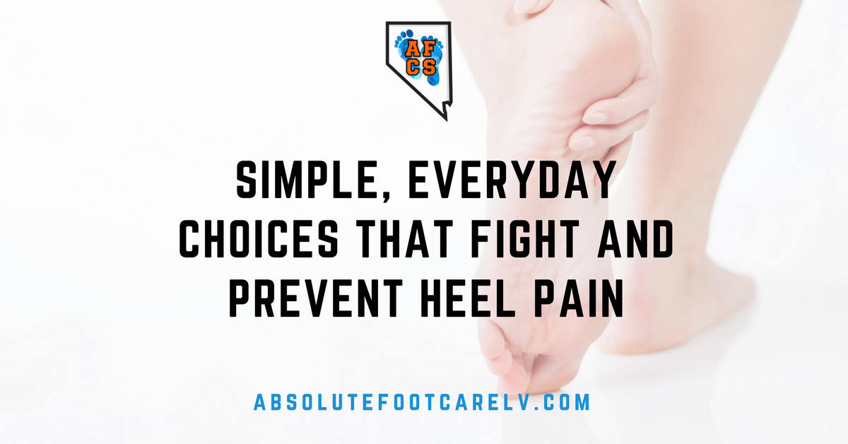 Blog graphic everyday choices to help heel pain