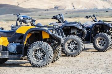 ATVs Outdoors on Open Land