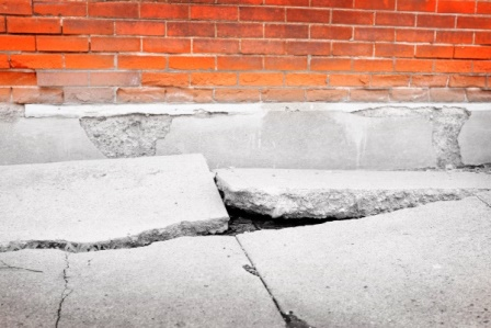 Skip and falls can occur on broken concrete sidewalks