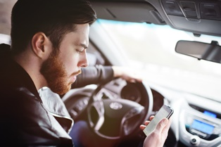 Accidents caused by a distracted driver