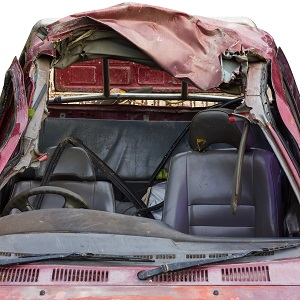 A crushed roof can seriously injure a vehicle's passengers