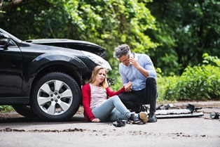 Compensation for internal bleeding after a car accident