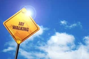 Accidents involving jaywalking