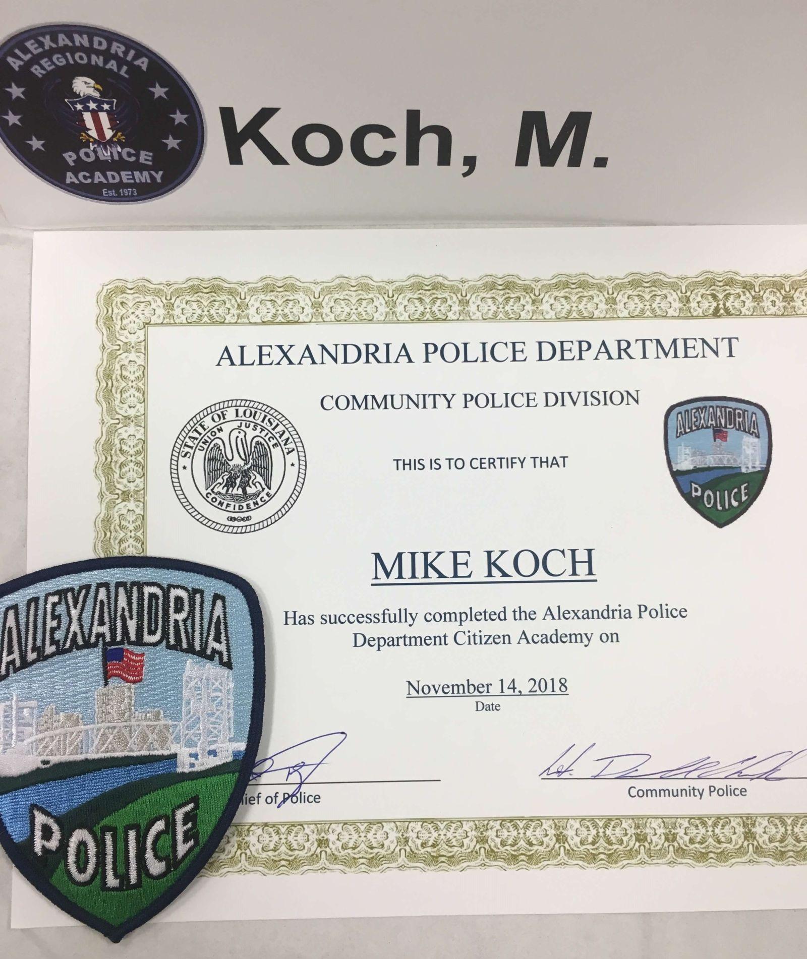 Attorney Mike Koch Alexandria Citizen Police Academy Neblett Beard and Arsenault