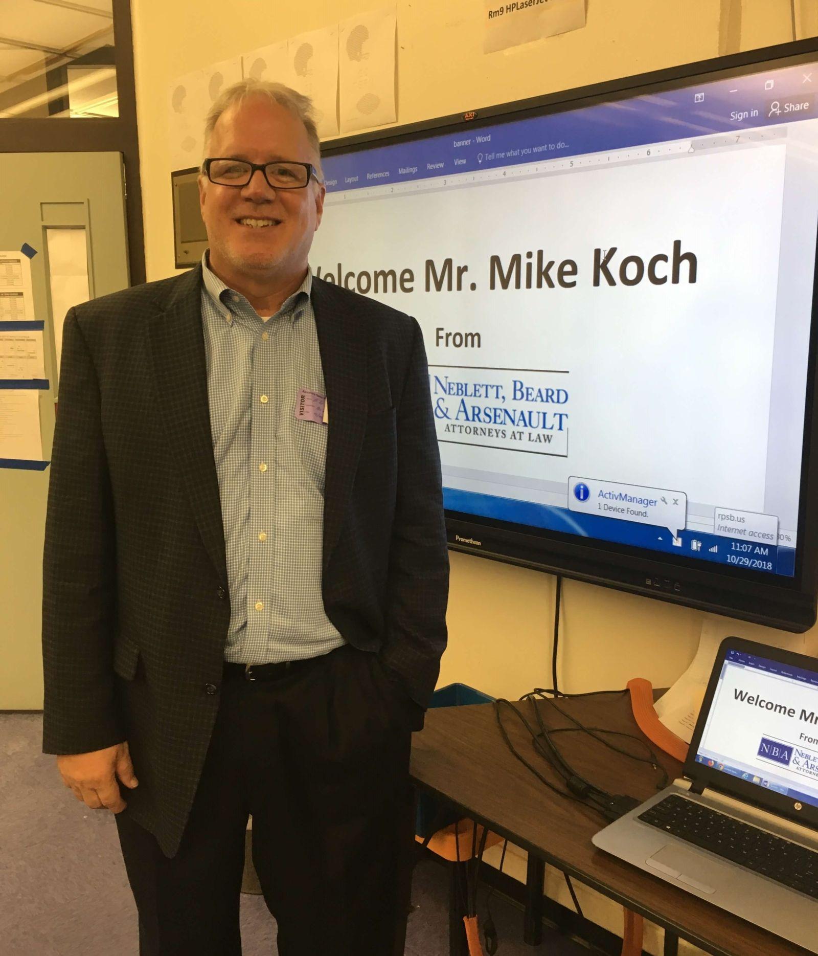 Lawyers In The Classroom Program Michael Koch