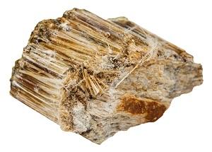 Brown asbestos fibers