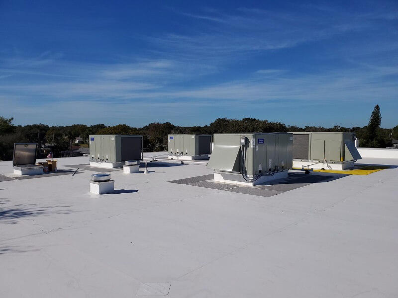 AC units installed on the roof