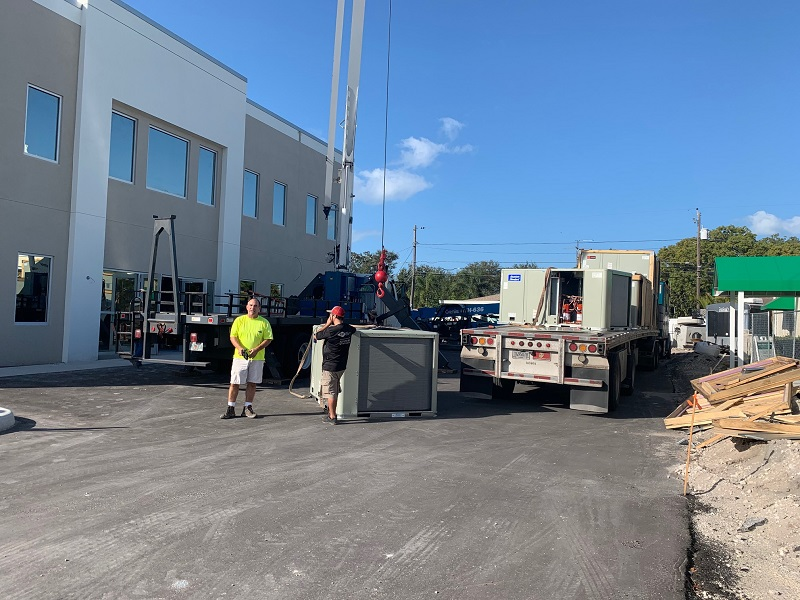 AC units getting delivered