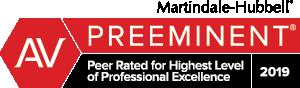 Attorney Marindale-Hubbel AV Preeminent Badge 2019