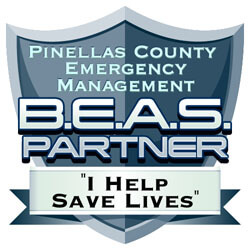 Pinellas County Emergency Management Billboard Emergency Alert System Partner Badge