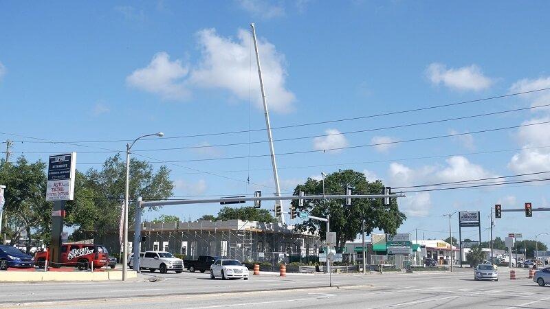 Crane at new building