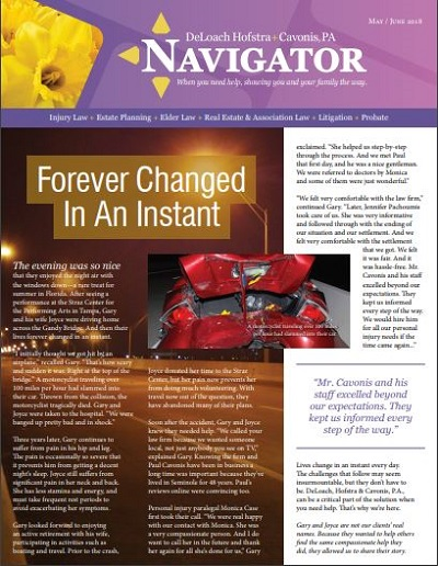 Summer 2018 Navigator Newsletter Cover