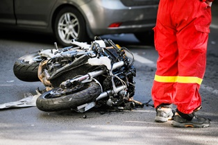 Getting medical attention after a motorcycle crash