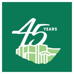 DHC 45 year anniversary logo