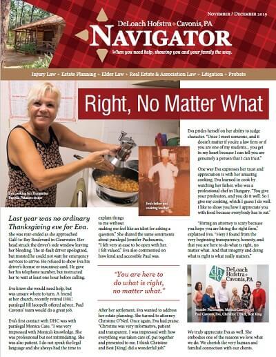Winter 2019 Navigator Newsletter Cover