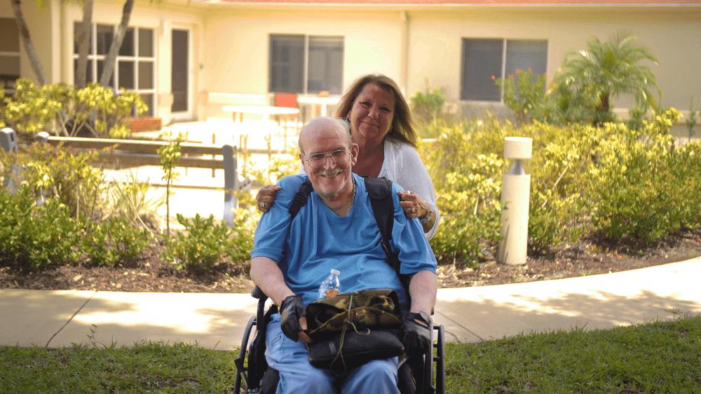 Our elder care client David and Elder Care Coordinator Gloria