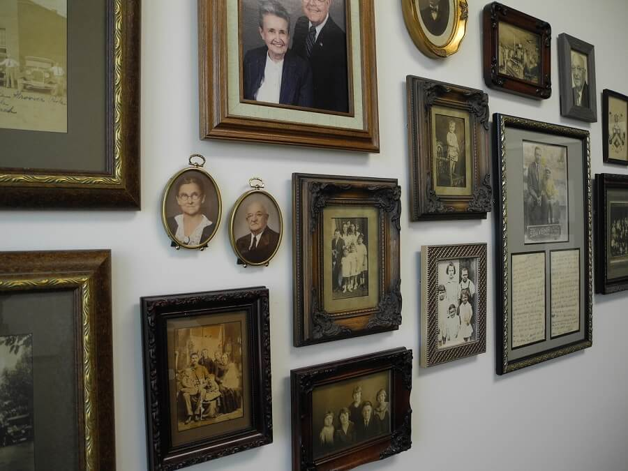 DeLoach family wall in the Heron conference room