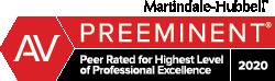Attorney Marindale-Hubbel AV Preeminent Badge 2020