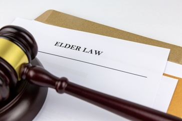 Elder Law Paperwork With a Gavel