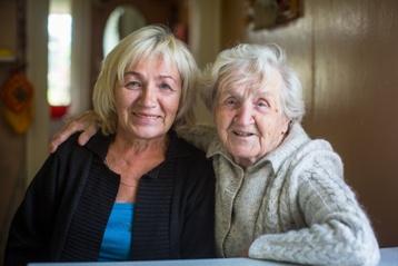 Elderly Parent With Her Guardian Daughter